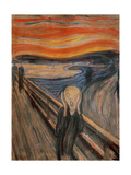 The Scream, 1893 Giclee-trykk av Edvard Munch