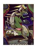 Amazonka in the Mountains, 1918 Giclée-tryk af Wassily Kandinsky