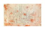 City with Gothic Cathedral, 1925 Giclée-tryk af Paul Klee