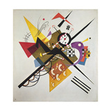 On White II, 1923 Giclée-tryk af Wassily Kandinsky