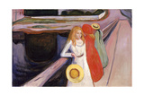 Girls on the Bridge Giclee-trykk av Edvard Munch