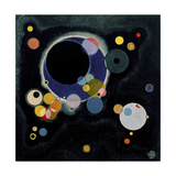 Schizzo per vari cerchi, 1926 Stampa giclée di Wassily Kandinsky