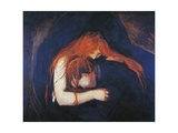 Vampire, 1893-1894 Giclée-tryk af Edvard Munch