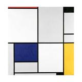 Tableau 1, with Red, Black, Blue and Yellow, 1921 Reproduction procédé giclée par Piet Mondrian