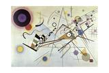 Composition Number 8, 1923 Gicléedruk van Wassily Kandinsky