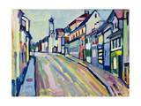 Murnau - Lower Market Street; Murnau - Untermarkt, 1908 Giclée-vedos tekijänä Wassily Kandinsky