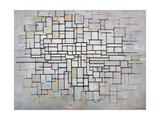 Composition No 11 in Grey, Pink and Blue, 1913 Reproduction procédé giclée par Piet Mondrian
