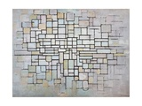 Composition No 11 in Grey, Pink and Blue, 1913 Giclée-tryk af Piet Mondrian