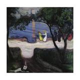 Dance on the Beach, 1899-1900 Giclée-tryk af Edvard Munch