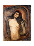 Madonna, 1894-1895 Lámina giclée por Edvard Munch
