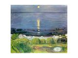 Summer Night at the Shore Giclée-tryk af Edvard Munch