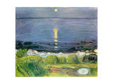 Summer Night at the Shore Stampa giclée di Edvard Munch