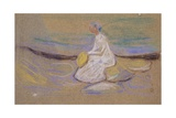 Girl on the Beach, 1906 Giclee-trykk av Edvard Munch