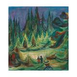 The Fairytale Forest, 1927-1929 Giclée-tryk af Edvard Munch
