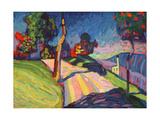 Autumn Landscape, Murnau, 1908 Giclée-tryk af Wassily Kandinsky