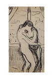 The Kiss, 1894-1895 Gicléetryck av Edvard Munch