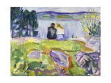 Springtime (Lovers by the Shore), 1911-1913 Stampa giclée di Edvard Munch