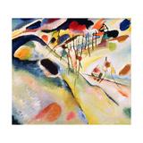Landscape, 1913 Giclée-tryk af Wassily Kandinsky