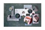 Closed Circles, 1933 Giclée-tryk af Wassily Kandinsky