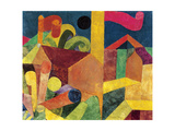 Landscape with Flags or Houses with Flags, 1915 Giclee-trykk av Paul Klee