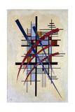 Zeichen Mit Begleitung, 1927 Gicléedruk van Wassily Kandinsky