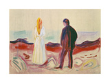 The Lonely Ones, 1899 Giclée-tryk af Edvard Munch