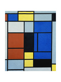 Tableau No.1, 1925 Reproduction procédé giclée par Piet Mondrian