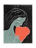 Woman with a Dog Giclée-vedos tekijänä Edvard Munch