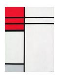 Composition (A) in Red and White, 1936 Reproduction procédé giclée par Piet Mondrian