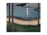 Moonlight, 1895 Giclee-trykk av Edvard Munch