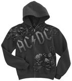 AC/DC-Night Prowler Zip Hoodie Huvtröja med dragkedja