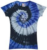 Ladies: MLB-Rockies Spiral V-Neck Damen-T-Shirts mit V-Ausschnitt