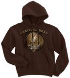 Pullover Hoodie: Grateful Dead- Hardwood stealie Pullover con cappuccio