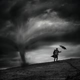Man in the Wind Fotografie-Druck von Radovan Skohel