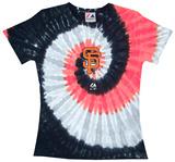 Ladies: MLB-Sf Giants Spiral V-Neck Damen-T-Shirts mit V-Ausschnitt