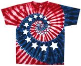 Americana-Stars & Stripes Spiral T-skjorte