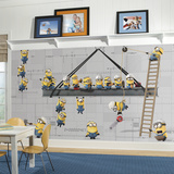 Minions at Work XL Chair Rail Prepasted Mural Wallpaper Mural