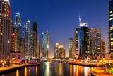 Dubai Marina Fotografisk tryk af  SAKhanPhotography