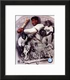 Jackie Robinson Legends Composite Impressão fotográfica emoldurada
