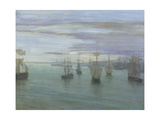 Crepuscule in Flesh Colour and Green: Valparaiso Giclée-tryk af James Abbott McNeill Whistler