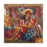 The Wedding of St George and Princess Sabra Giclee-trykk av Dante Gabriel Rossetti