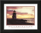 Determination Mind can Conceive and Believe It can Achieve Lighthouse Motivational Posters