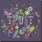 Trust– Blindes Vertrauen Bedruckte aufgespannte Leinwand von Ken Hurd