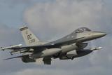U.S. Air Force F-16 Fighting Falcon Flying over Brazil Valokuvavedos tekijänä Stocktrek Images
