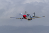 A P-51 Mustang Flies by at Half Moon Bay, California Photographic Print by Stocktrek Images
