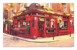The Temple Bar Pub in Temple Bar Area Rug by Eoin Clarke