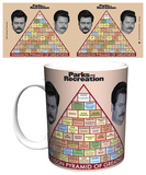 Parks and Rec Swanson Pyramid of Greatness Mug Mug
