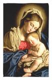 Madonna and Child Rug by  Giovanni Battista Salvi da Sassoferrato