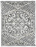 Woodcut in Black II Fleece Blanket by Chariklia Zarris