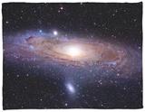 The Andromeda Galaxy Fleece Blanket by  Stocktrek Images